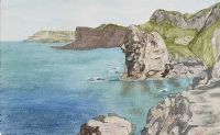 GIANT'S HEAD, WHITEROCKS, PORTRUSH by Roberta Campbell at Ross's Auctions