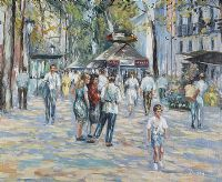 PARIS STREET SCENE by Duran at Ross's Auctions