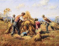 STACKING THE HAY by Charles McAuley at Ross's Auctions