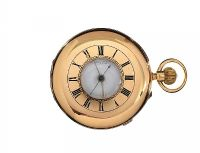 18CT GOLD HALF-HUNTER POCKET WATCH by Pocket & Fob Watches at Ross's Auctions