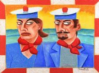 TWO SAILORS by Graham Knuttel at Ross's Auctions