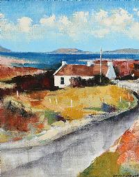 COUNTY DOWN COTTAGE by Dennis Orme Shaw at Ross's Auctions