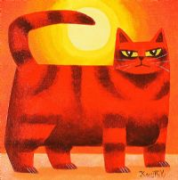 CAT IN THE SUNLIGHT by Graham Knuttel at Ross's Auctions