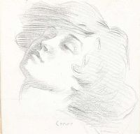A GIRL'S HEAD by William Conor RHA RUA at Ross's Auctions