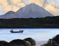 THE BLUE BOAT AT ERRIGAL by Sean Loughrey at Ross's Auctions