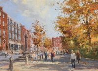 MERRION SQUARE, DUBLIN by Colin Gibson at Ross's Auctions