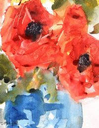 STILL LIFE POPPIES by Splade at Ross's Auctions
