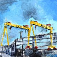 SAMSON & GOLIATH, HARLAND & WOLFF, BELFAST by Marie Claire Allsop at Ross's Auctions