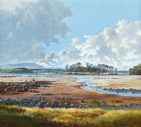 NEAR STRANGFORD LOUGH by Robert B. Higgins at Ross's Auctions
