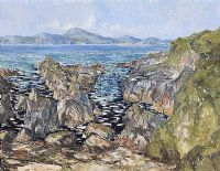 SHEEPHAVEN BAY, DONEGAL by Gerald J.A. Carson at Ross's Auctions