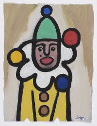 JUGGLING CLOWN by Markey Robinson at Ross's Auctions