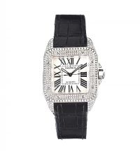 CARTIER 'SANTOS 100' STAINLESS STEEL UNISEX WRIST WATCH by Wrist Watches at Ross's Auctions