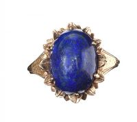 9CT GOLD LAPIS LAZULI RING at Ross's Jewellery Auctions