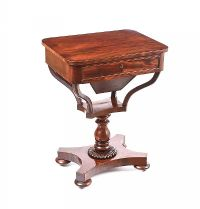 REGENCY MAHOGANY SEWING TABLE at Ross's Auctions