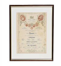 FRAMED ROYAL OPERA PROGRAMME at Ross's Auctions