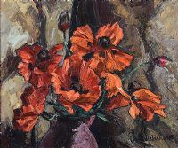 POPPIES by Paul Nietsche RUA at Ross's Auctions