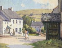 CUSHENDUN VILLAGE, COUNTY ANTRIM by Maurice Canning  Wilks ARHA RUA at Ross's Auctions