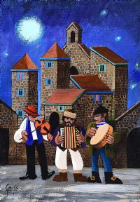 MOONLIT BUSKERS by George Callaghan at Ross's Auctions