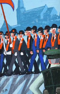 ORANGE MEN by Cupar Pilson at Ross's Auctions