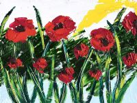 POPPIES FOR REMEMBRANCE by Moyra Blayney at Ross's Auctions