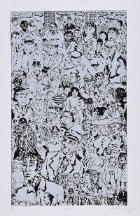 CROWD by David Milward at Ross's Auctions