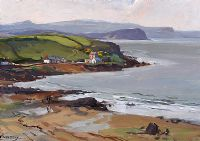 ON THE ANTRIM COAST by Frank McKelvey RHA RUA at Ross's Auctions