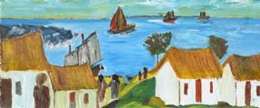 THE FISHING VILLAGE by John Francis Shortall at Ross's Auctions