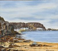 PORT BRADDON, COUNTY ANTRIM by Molly Taggart at Ross's Auctions