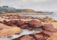 ROCKY COAST by George Campbell RHA RUA at Ross's Auctions