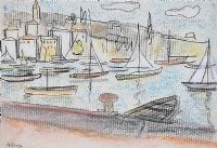 BOATS IN THE HARBOUR by Arthur Armstrong RHA RUA at Ross's Auctions
