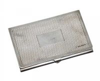 STERLING SILVER CARD CASE at Ross's Auctions