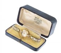 TUDOR 9CT GOLD CASED WATCH at Ross's Auctions
