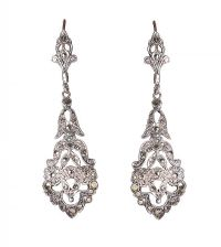 SILVER AND MARCASITE DROP EARRINGS at Ross's Jewellery Auctions