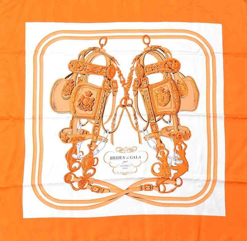 7439e5dab7e2 ... HERMES 'BRIDES DE GALA' SILK SCARF WITH ORIGINAL BOX at Ross's Online  Art Auctions