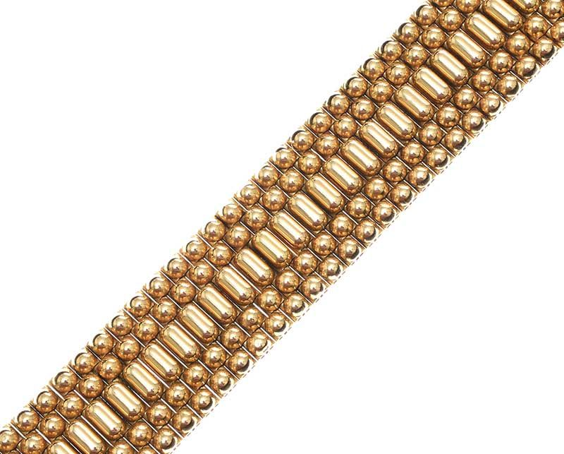 1940'S FRENCH 18CT GOLD FANCY-LINK BRACELET WITH ORIGINAL FITTED BOX at Ross's Online Art Auctions
