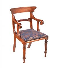MAHOGANY BAR BACK ARMCHAIR at Ross's Auctions