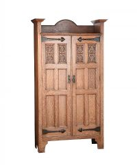 OAK ARTS & CRAFTS HALL CUPBOARD at Ross's Auctions