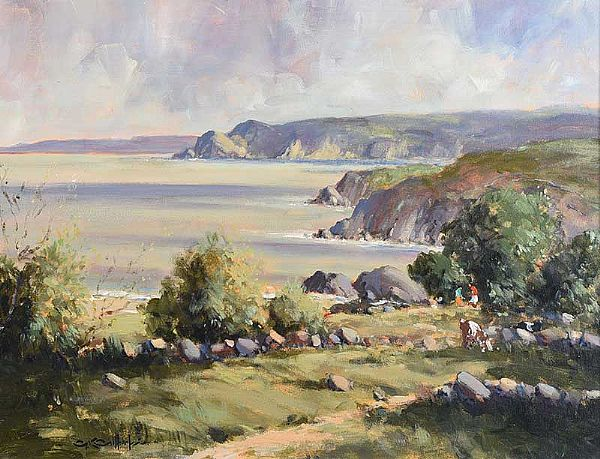 ABOVE CUSHENDUN, COUNTY ANTRIM by George K. Gillespie at Ross's Online Art Auctions
