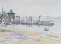 THE OLD PIER by James Humbert Craig RHA RUA at Ross's Auctions