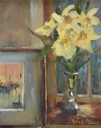 DAFFODILS & PICTURE by Liam Treacy at Ross's Auctions