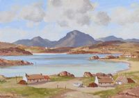 COTTAGES, CONNEMARA by Samuel McLarnon UWS at Ross's Auctions