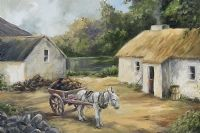 DONKEY & TURF CART by Stephen Brown at Ross's Auctions