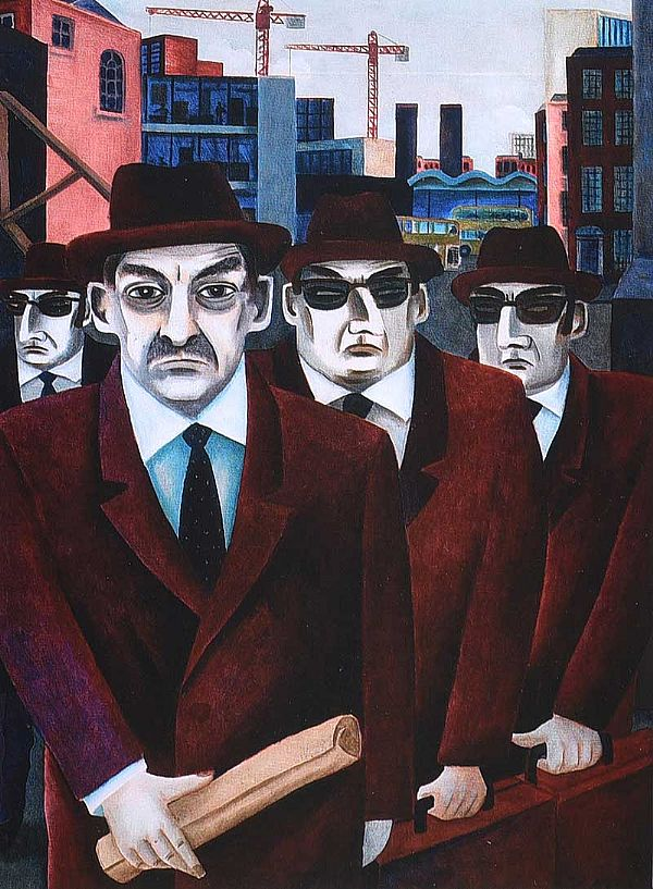 MEN IN SUITS by Graham Knuttel at Ross's Online Art Auctions