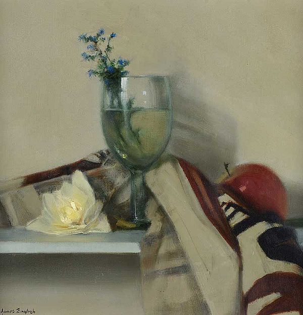 GLASS WITH SPRING HERBS by James English RHA at Ross's Online Art Auctions