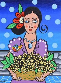 MEXICAN GIRL WITH FLOWERS by George Smyth at Ross's Auctions