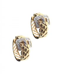 14CT GOLD DIAMOND BUCKLE EARRINGS at Ross's Jewellery Auctions
