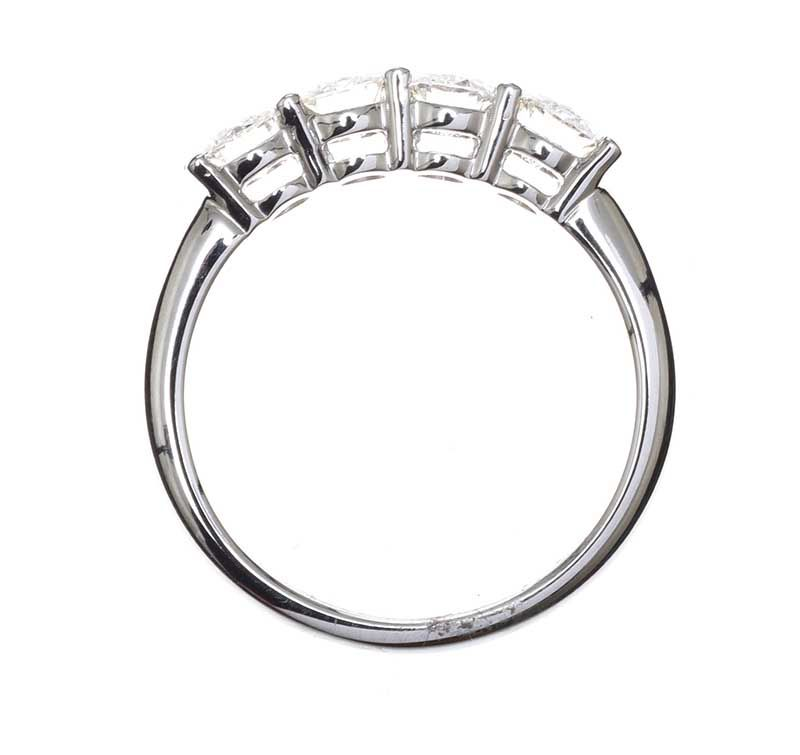 18CT WHITE GOLD FOUR STONE DIAMOND RING at Ross's Online Art Auctions