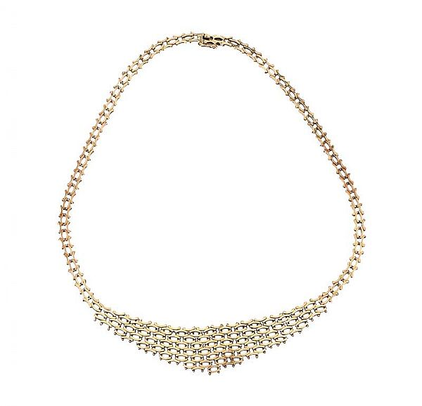 9CT GOLD MESH NECKLACE at Ross's Online Art Auctions