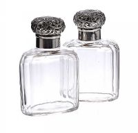 PAIR OF MAPPIN AND WEBB SILVER TOPPED COLOGNE BOTTLES at Ross's Online Art Auctions