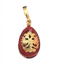 FABERGE 18CT GOLD ENAMEL EGG PENDANT at Ross's Online Art Auctions